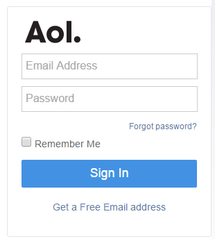 aol mail service error