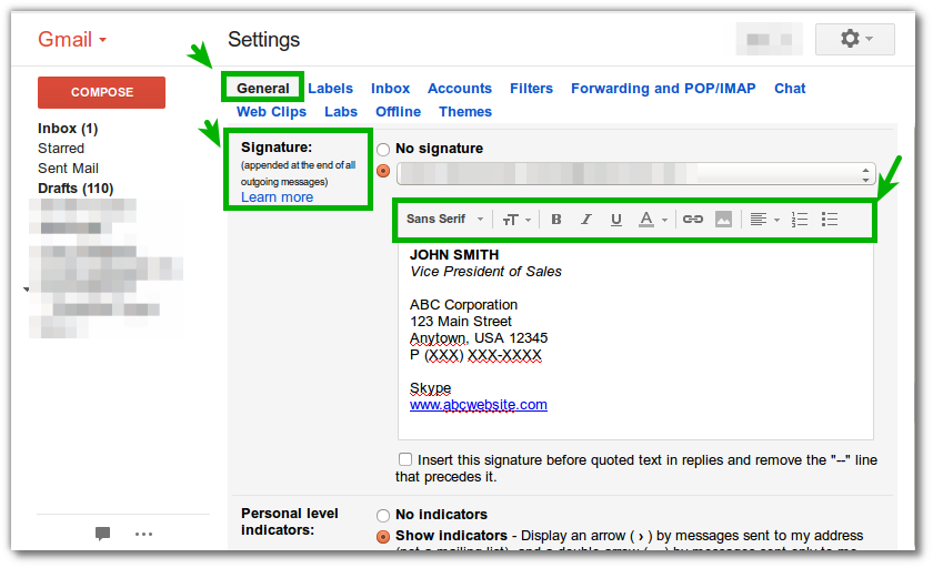Create A Gmail Signature